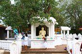 a small statue of Vishnu in the Vishnu temple