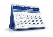 calendário de 2011, janeiro