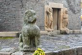 Gyeongju, Korea - October 20, 2014: Statue Of A Lion