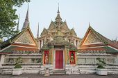 picture of recliner  - Wat Pho or Wat Phra Chetuphonthe Temple of the Reclining Buddha in Bangkok of Thailand - JPG