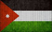 Abstract Mosaic Flag of Jordan