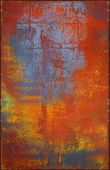 Multicolored Metal Texture With Rusty Seams Along Edges
