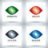 Cyber Eye Icon Set