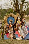 picture of goddess  - Idol of Hindu goddess Saraswati - JPG