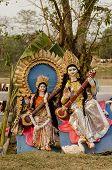 Постер, плакат: Idols of Hindu goddess Saraswati
