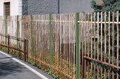 iron fencing with rust