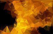 Gold Black Light Polygonal Mosaic Background, Vector Illustration,  Business Design Templates poster