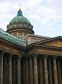 Kazan Cathedral Against Blue Sky