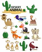 stock photo of desert animal  - a vector collection of a desert animal - JPG