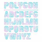 Low Polygon Sans Serif Font