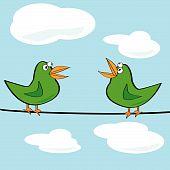 Vögel zwitschern