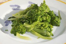 image of turnip greens  - traditional dish of Apuleia - JPG