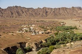 stock photo of hamlet  - Wadi Madbah - JPG