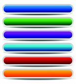 picture of oblong  - Set of bright colorful oblong design elements - JPG