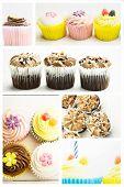 stock photo of cupcakes  - cupcakes against cupcakes - JPG