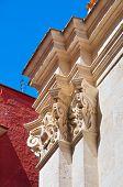 stock photo of pilaster  - Detail of the Purgatory church of Barletta - JPG