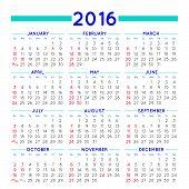 image of august calendar  - 2016 elegant squared calendar - JPG