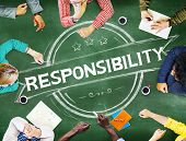 stock photo of responsible  - Responsibility Reliability Trust Liability Trustworthy Concept - JPG