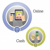 stock photo of payment methods  - Vector illustration concepts of payment methods - JPG
