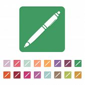 pic of ballpoint  - The ballpoint pen icon - JPG