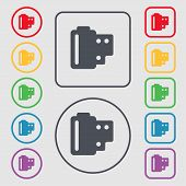 picture of mm  - 35 mm negative films icon sign - JPG
