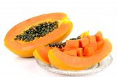 picture of pawpaw  - Ripe papaya Pawpaw or Tree melon  - JPG