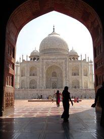 picture of mumtaj  - the taj mahal was built at agra uttar pradesh india by emperor shah jahan as a mausoleum for his wife mumtaj in 1631 ad - JPG