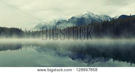 Lake Herbert panorama in a