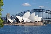 Sydney Opera House And Bridge
