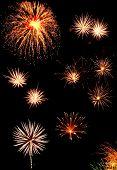 pic of 24th  - Colorful fireworks over dark sky displayed during Barcelona Patron Saint La Merce  - JPG