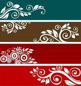 Постер, плакат: Аннотация цветочные узоры для дизайна Ретро орнамент для фона