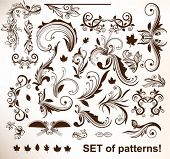 Set of vector patterns for design.