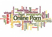 Online Porn, Word Cloud Concept 9 poster