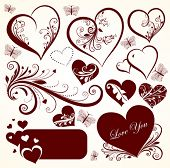 Love valentine day vector set for design