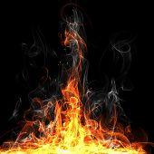 Fire frame for flame design