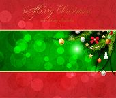 Christmas background vector image. Antique seamless background.