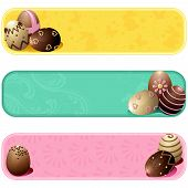 Cute pastel colored easter banners