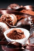 stock photo of truffle  - chocolate truffles - JPG