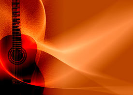 image of musical instrument string  - musical red background abstract composition with flowing design - JPG