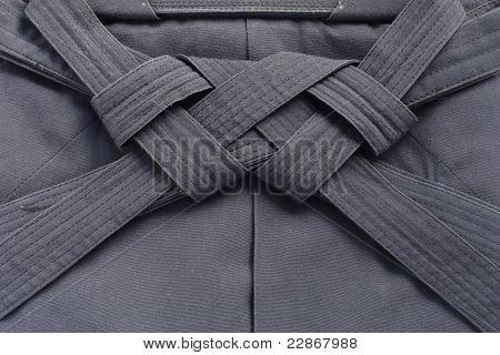 Постер, плакат: складчатые айкидо Хакама японских боевых искусств единообразных, холст на подрамнике