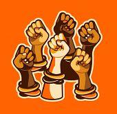 Feminism Concept Female Power. Female Power, Great Design For Any Purposes. Women Power. Female Fist poster