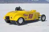 WENDOVER, UT - AUGUST 13: A 1931 Ford Roadster on the Bonneville Salt Flats during Bonneville Speed
