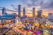 Atlanta, Georgia, USA downtown skyline. poster