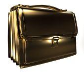 Business gold bag