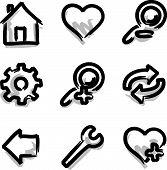 Web icons marker contour tools