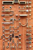 Botões de porta de latão e bronze