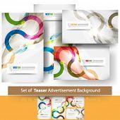 eps10 vector set of teaser advertisement background
