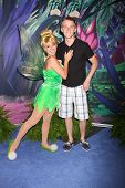 LOS ANGELES - AUG 19:  Tinkerbell, Jason Dolley at the D23 Expo 2011 at the Anaheim Convention Cente