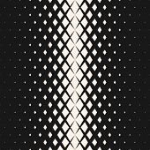 Vector Geometric Seamless Pattern With Fading Rhombuses, Diamond Shapes. Halftone Transition Effect. poster