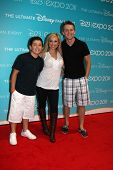LOS ANGELES - AUG 19:  Bradley Steven Perry, Leigh-Allyn Baker,  Jason Dolley at the D23 Expo 2011 a